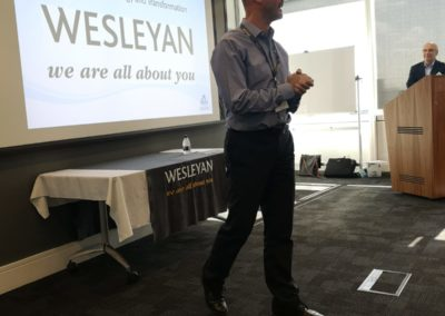 David Stewart, Wesleyan  Director of Technology and Transformation, opening the event